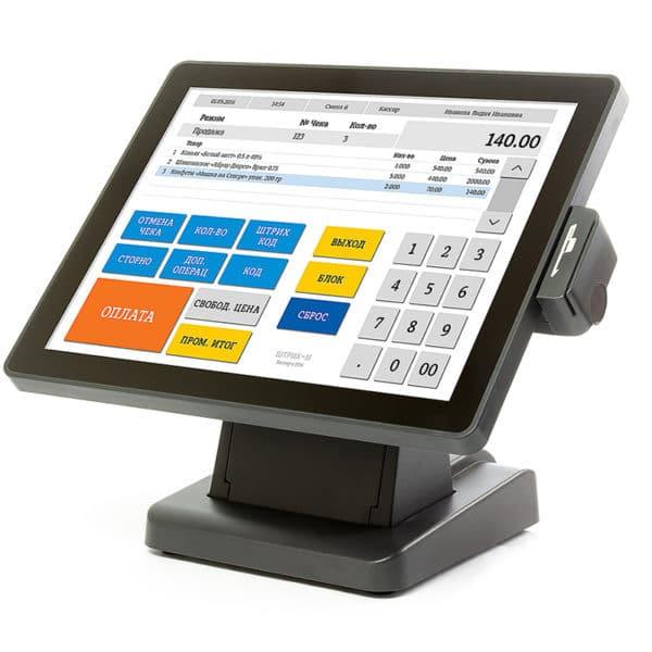 Мониторы кассира Сенсорный монитор кассира POScenter EVA-150   оборудование и программное обеспечение для автоматизации бизнеса   ГК Эгида, Россия