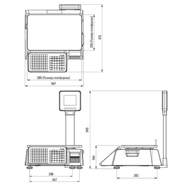 Весовое оборудование Весы торговые электронные CAS CL3000J-30P TCP-IP | оборудование и программное обеспечение для автоматизации бизнеса | ГК Эгида, Россия