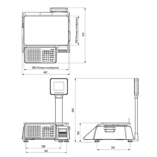 Весовое оборудование Весы торговые электронные CAS CL3000J-6P TCP-IP   оборудование и программное обеспечение для автоматизации бизнеса   ГК Эгида, Россия